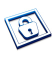 lock web icon vector image