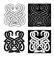 Celtic ornament with two intertwined snakes vector image