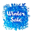 Winter sale abstract background design with vector image