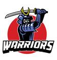samurai warrior mascot vector image