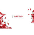 abstract red modern geometric polygonal vector image