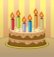 birtday cake vector image