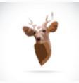 deer head on white background wild animals vector image