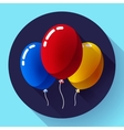 Festive multicolored air balloons icon holiday vector image