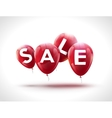 Flying balloons concept of SALE for shops Four vector image