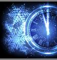 old clock holiday lights at new year midnight vector image