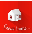 paper model house vector image
