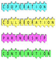 Partnership concept word tags vector image