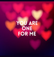 square blurred background - red blur hearts vector image