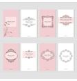 Vintage card templates set vector image
