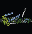 Lead companies features to consider text vector image