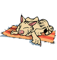 Sly Resting Cat vector image vector image