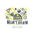 nothern logo template original design badge for vector image