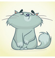 cartoon of a cute smiling cat vector image