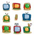 tv icon set vector image vector image