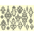 Design elements for wallpapers vector image vector image