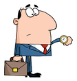 Businessman Checking His Watch vector image