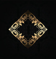 stylish background with gold frame 2701 vector image