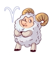 Funny aries vector image