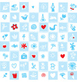 Holland delfts blue seamless pattern with flowers vector image
