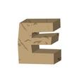 letter e stone font rock alphabet symbol stones vector image
