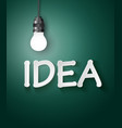 light bulb idea concept vector image