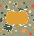 scrapbooking template in brown with place for text vector image