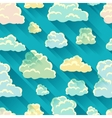 Seamless abstract pattern with sky and clouds vector image