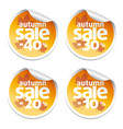 set with sale autumn stickers vector image