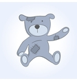 soft toy bear vector image