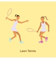 Sport people activities icon Lawn Tennis i vector image