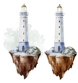 Watercolor lighthouse vector image