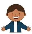 happy boy student uniform isolated vector image
