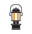 Camping Lantern or Gas Lamp vector image