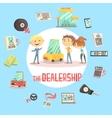 Car Dealership Firm Professional Dealer Selling vector image