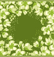 abstract hand drawn apple blossom vector image vector image