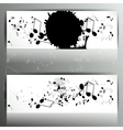 Card with abstract background with music notes vector image