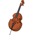 double bass cartoon clip art vector image