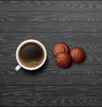 coffee with candy vector image vector image