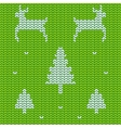 Christmas traditional ornamental knitted pattern vector image