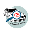 Car electrician logo template vector image
