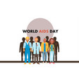 different human with aids ribbons vector image