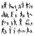 Family Activity Sketch Icon Set vector image