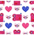 Lovers in bed Seamless pattern Valentine s Day vector image