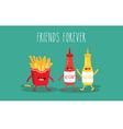 mustard and ketchup vector image