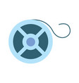 reel of film strip icon vector image