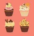 tasty cupcakes and muffins vector image