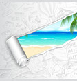 Travel Background for Sea Beach vector image