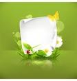 Spring frame green vector image vector image