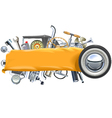 Banner with Retro Car Spares vector image